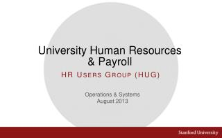 University Human Resources & Payroll