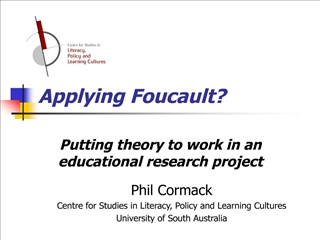 applying foucault