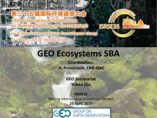 GEO Ecosystems SBA