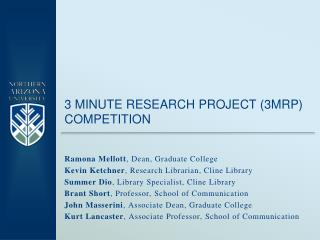 3 Minute research project (3MRP) Competition