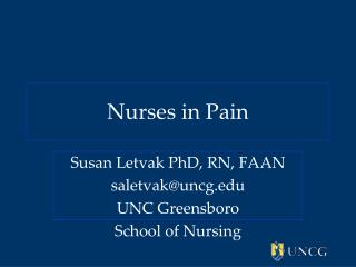 Nurses in Pain