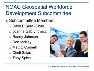 NGAC Geospatial Workforce Development Subcommittee