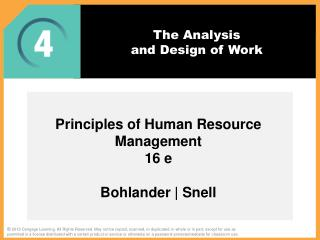 The Analysis  and  Design of Work