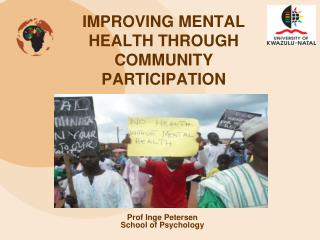 IMPROVING MENTAL HEALTH THROUGH COMMUNITY PARTICIPATION