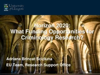 Horizon 2020: What Funding Opportunities for Criminology Research?