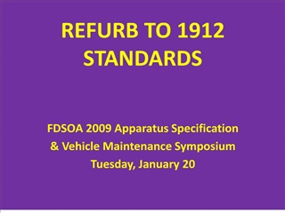 refurb to 1912 standards