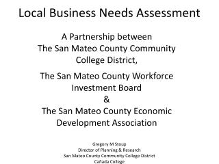 Local Business Needs Assessment