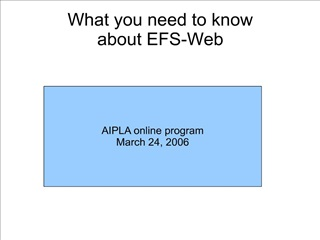 what you need to know  about efs-web