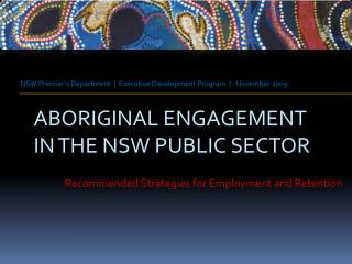 Aboriginal engagement in the nsw public sector