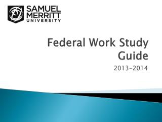 Federal Work Study Guide