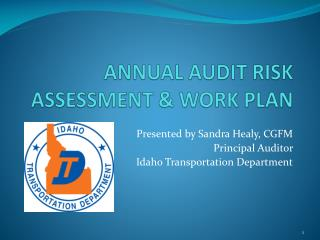 ANNUAL AUDIT RISK ASSESSMENT & WORK PLAN