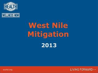 West Nile Mitigation