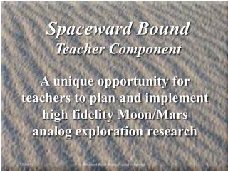 Spaceward Bound PPT