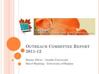 Outreach Committee Report 2011-12