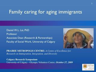 Family caring for aging immigrants