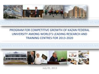 Program for competitive growth  of Kazan federal university  among world's  leading  research and training  centres  fo