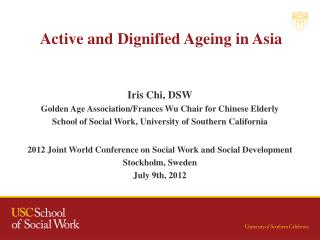 Active and Dignified Ageing in Asia