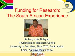Funding for Research:  The South African Experience