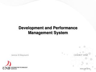 Development and Performance Management System