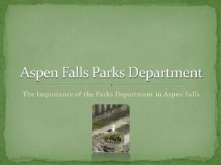Aspen Falls Parks Department