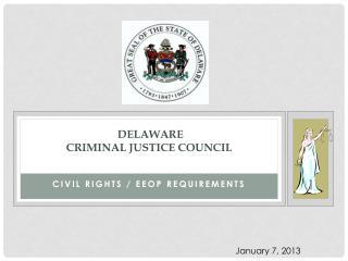 Delaware Criminal Justice Council