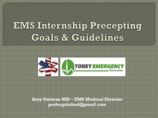 EMS Internship Precepting Goals & Guidelines