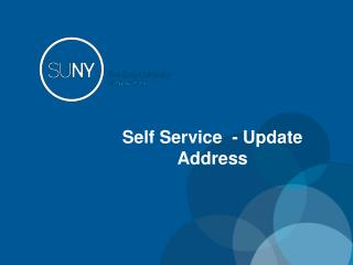 Self Service  - Update Address