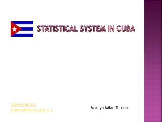 Statistical  System in  Cuba