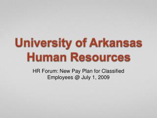 University of Arkansas Human Resources