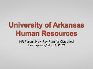 University of Arkansas Human Resources