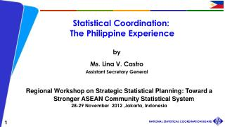 Statistical Coordination:  The Philippine Experience