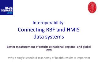 Interoperability: Connecting RBF and HMIS data systems