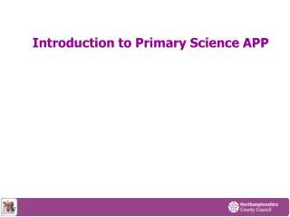 introduction to primary science app