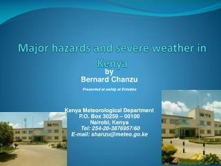 Major hazards and severe weather in Kenya