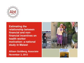 Estimating the  relationship between financial and non-financial incentives on health worker motivation: a national stu