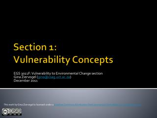 Section 1:  Vulnerability Concepts