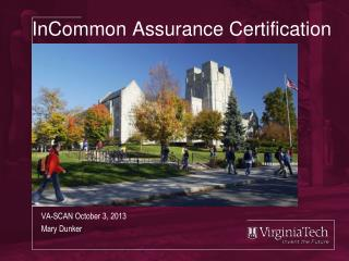 InCommon Assurance Certification