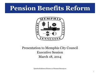 Pension Benefits Reform
