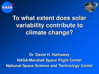 to what extent does solar variability contribute to climate change