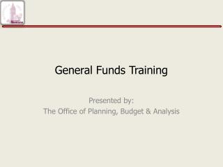 General Funds Training