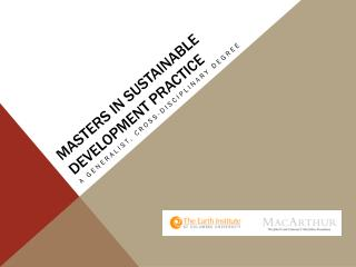 Masters in Sustainable Development Practice