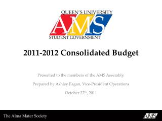 2011-2012 Consolidated Budget