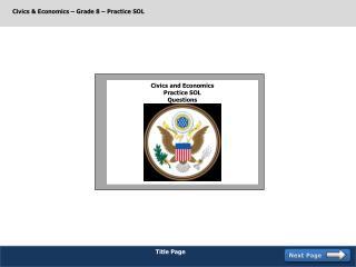 Civics & Economics – Grade 8 – Practice SOL