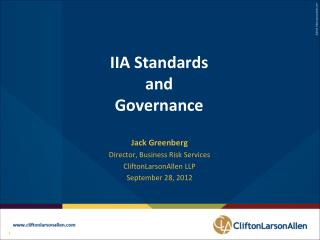 IIA Standards and Governance