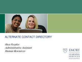 ALTERNATE CONTACT DIRECTORY