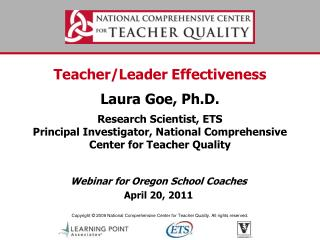 Webinar for  Oregon School Coaches April 20,  2011