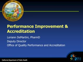 Performance Improvement & Accreditation