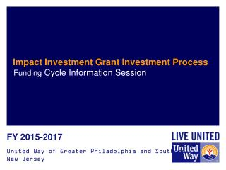 Impact Investment Grant Investment Process