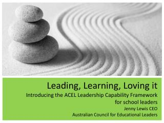 The ACEL Leadership Capability Framework
