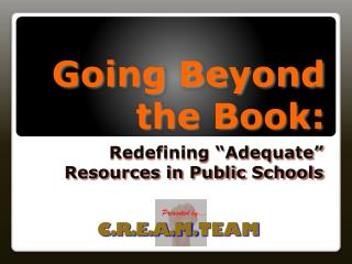 Going Beyond the Book: